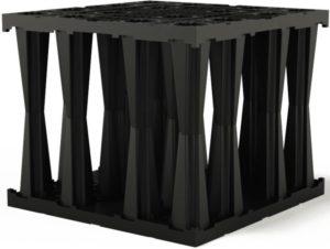 FRÄNKISCHE RIGOFILL ST-B blok pro vsakovací systémy 800x800x660mm, PP, černá