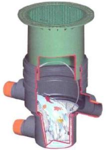 NICOLL GARANTIA podzemní filtrační šachta DN400 s pochozím poklopem a teleskopem